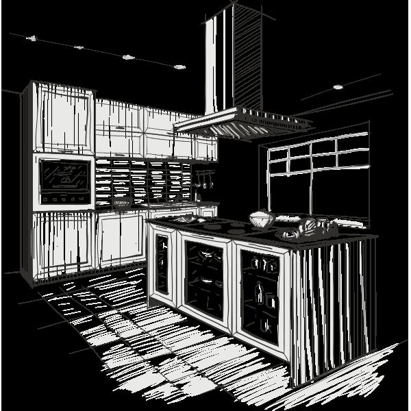 Kitchen Design Sketch M204 Kitchen Clap